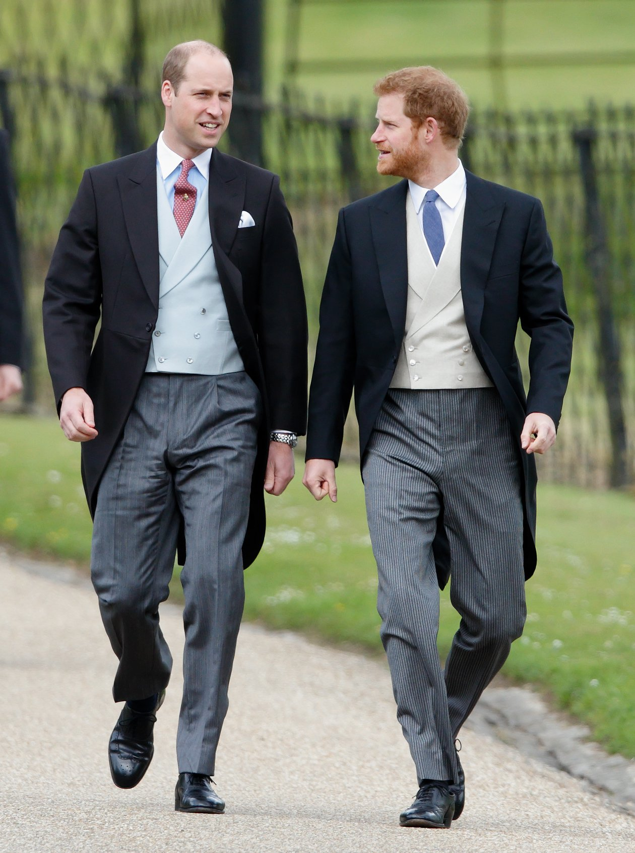 Image Credits: Getty Images / Max Mumby / Indigo   Prince William, Duke of Cambridge and Prince Harry attend the wedding of Pippa Middleton and James Matthews at St Mark's Church on May 20, 2017 in Englefield Green, England.