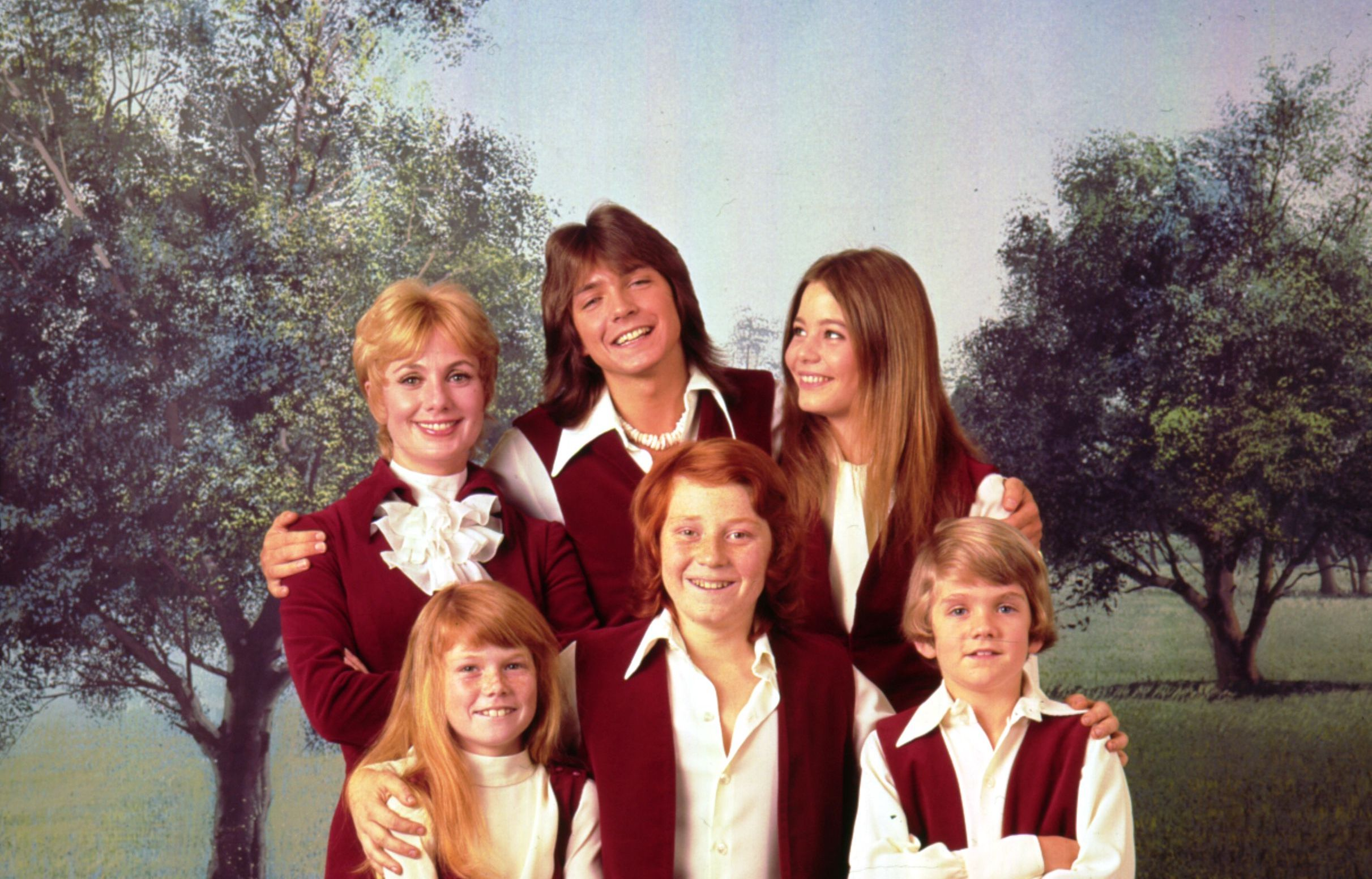 Image Credit: Getty Images / The Partridge Family poses for a photograph.