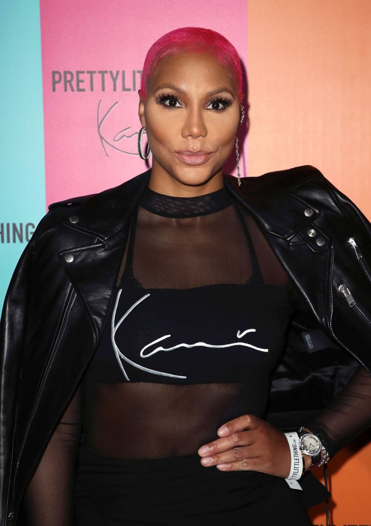 Image Credits: Getty Images / David Livingston   Singer Tamar Braxton attends the PrettyLittleThing x Karl Kani event at Nightingale Plaza on May 22, 2018 in Los Angeles, California.