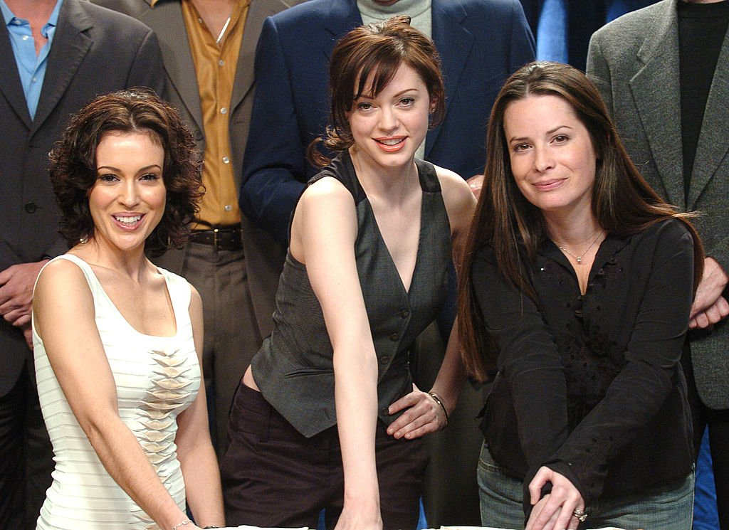 "Image Credit: Getty Images / Alyssa Milano, Rose McGowan and Holly Marie Combs during ""Charmed"" Celebrates 150 Episodes and First Season on DVD at Paramount Studios in Los Angeles."