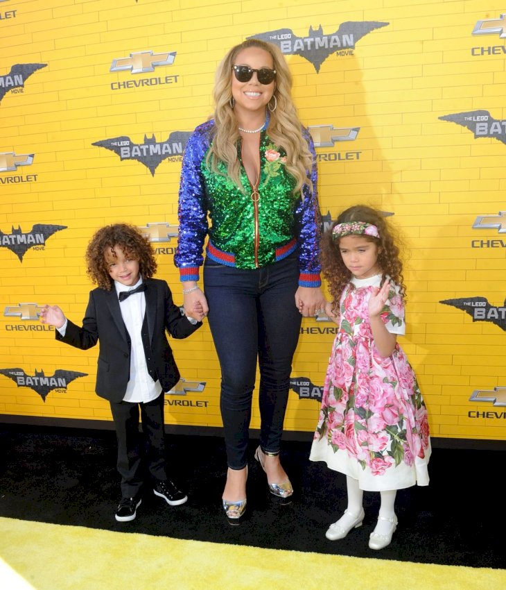 Mariah Carey and her children Moroccan and Monroe/Photo:Getty Images