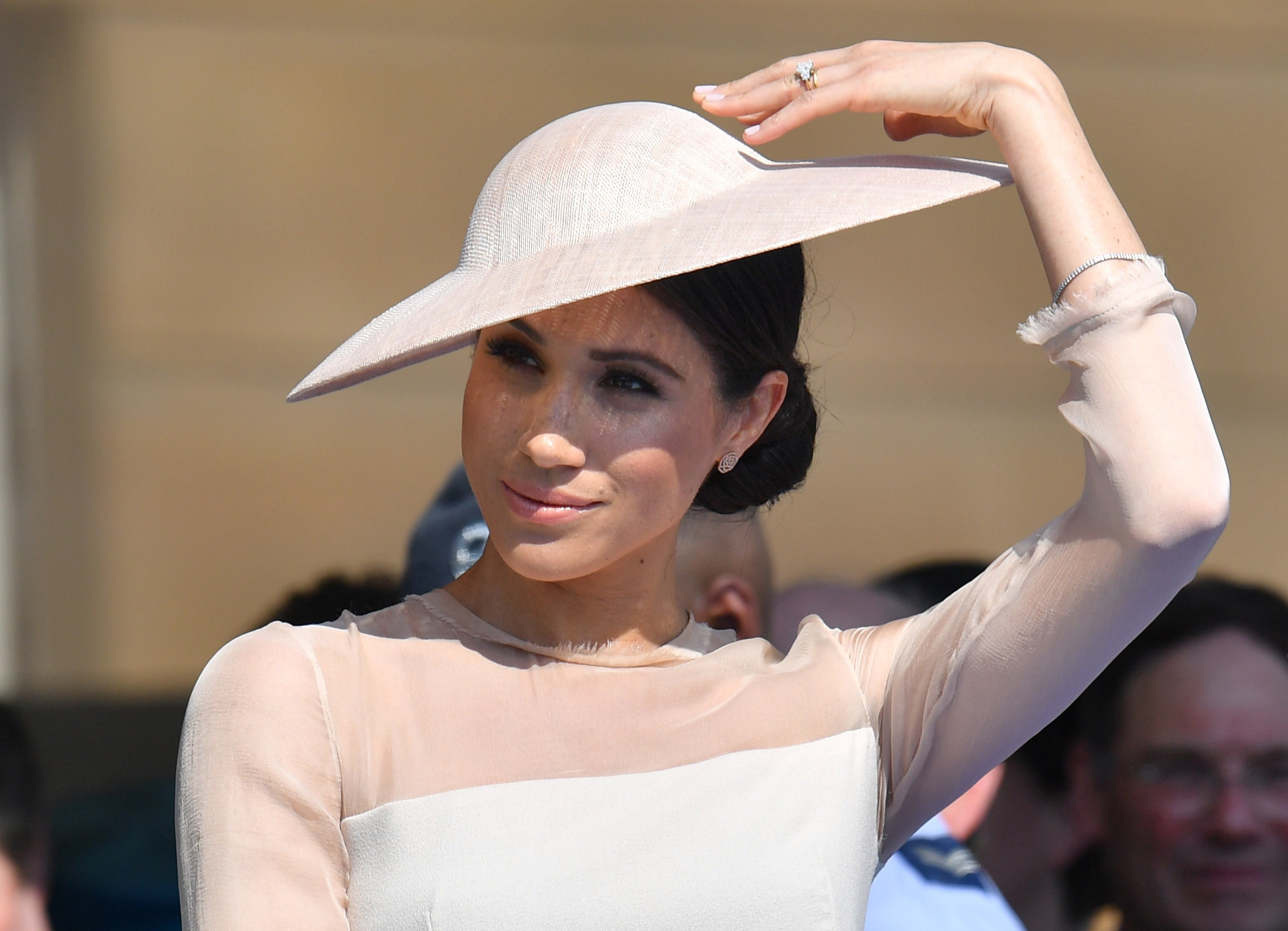 Image Credits: Getty Images / Dominic Lipinski - Pool   Meghan, Duchess of Sussex attends The Prince of Wales' 70th Birthday Patronage Celebration held at Buckingham Palace on May 22, 2018 in London, England.