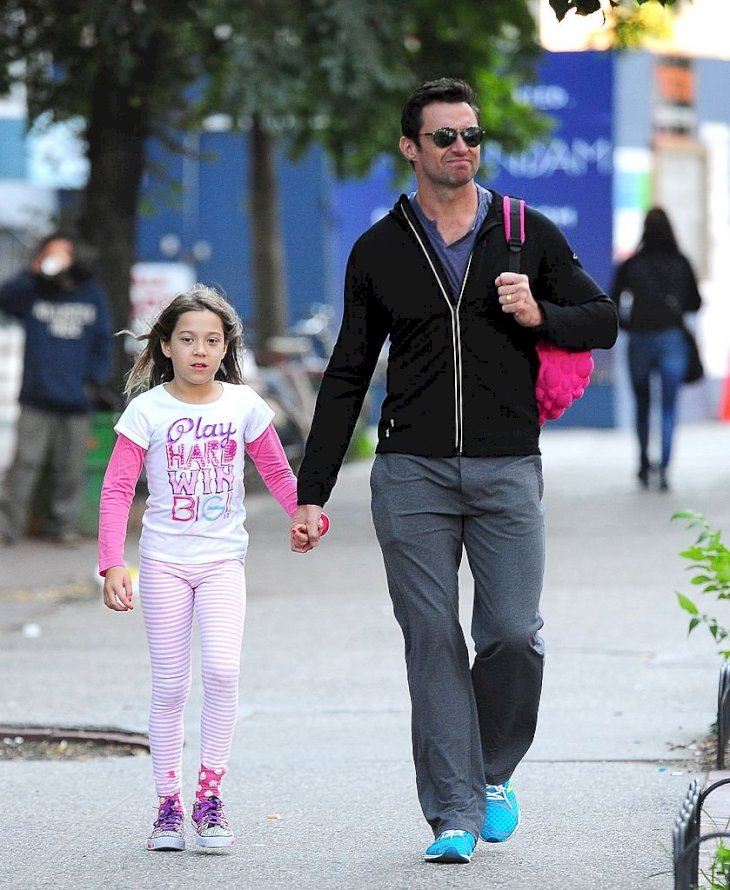 Image Credit: Getty Images / Hugh Jackman in New York with his daughter, Ava.