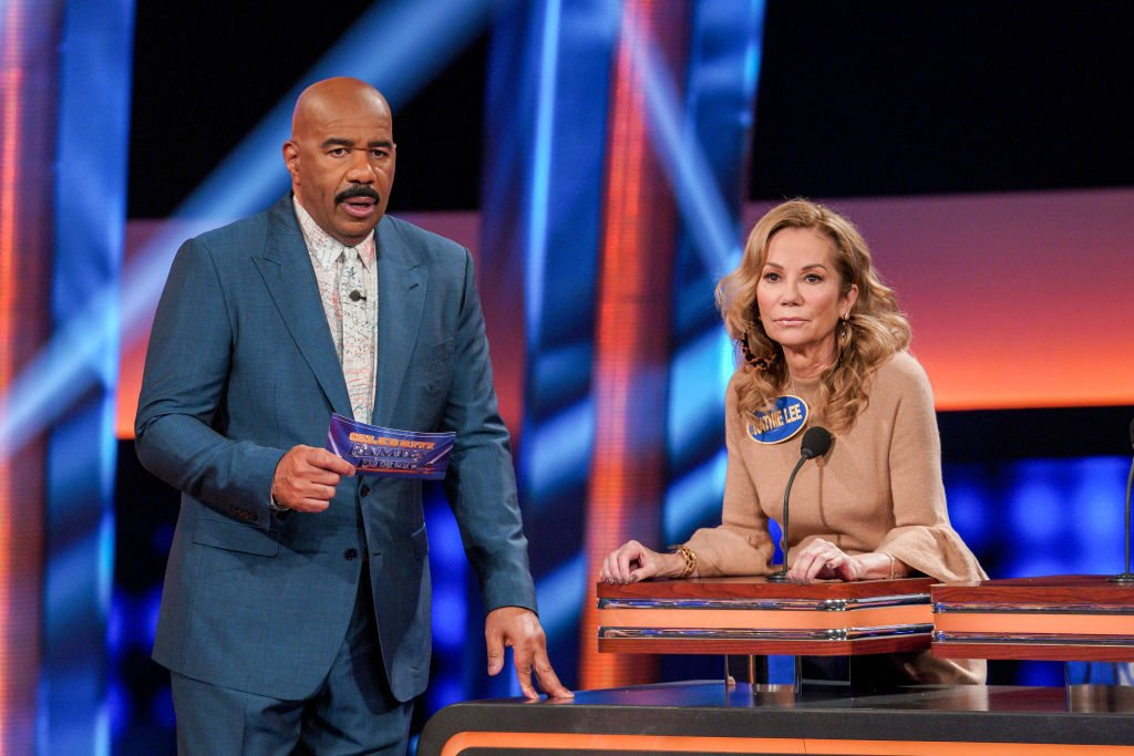 Image Credits: Getty Images / Byron Cohen | Kathie Lee Gifford competes against Ricki Lake in Celebrity Family Feud.