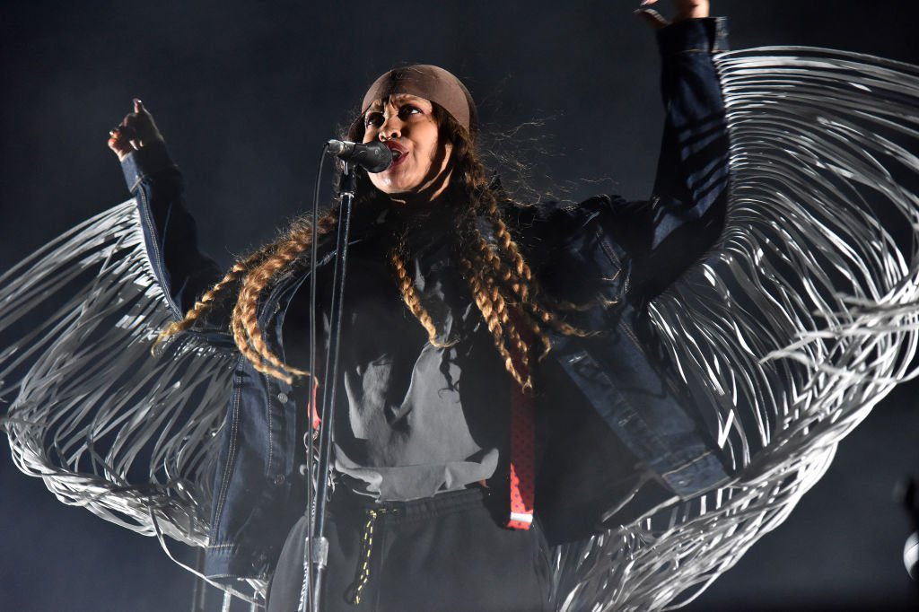 Image Credit: Getty Images / Erykah Badu performs during the Black on Both Sides 20th Anniversary concert at The Greek Theatre on October 25, 2019.