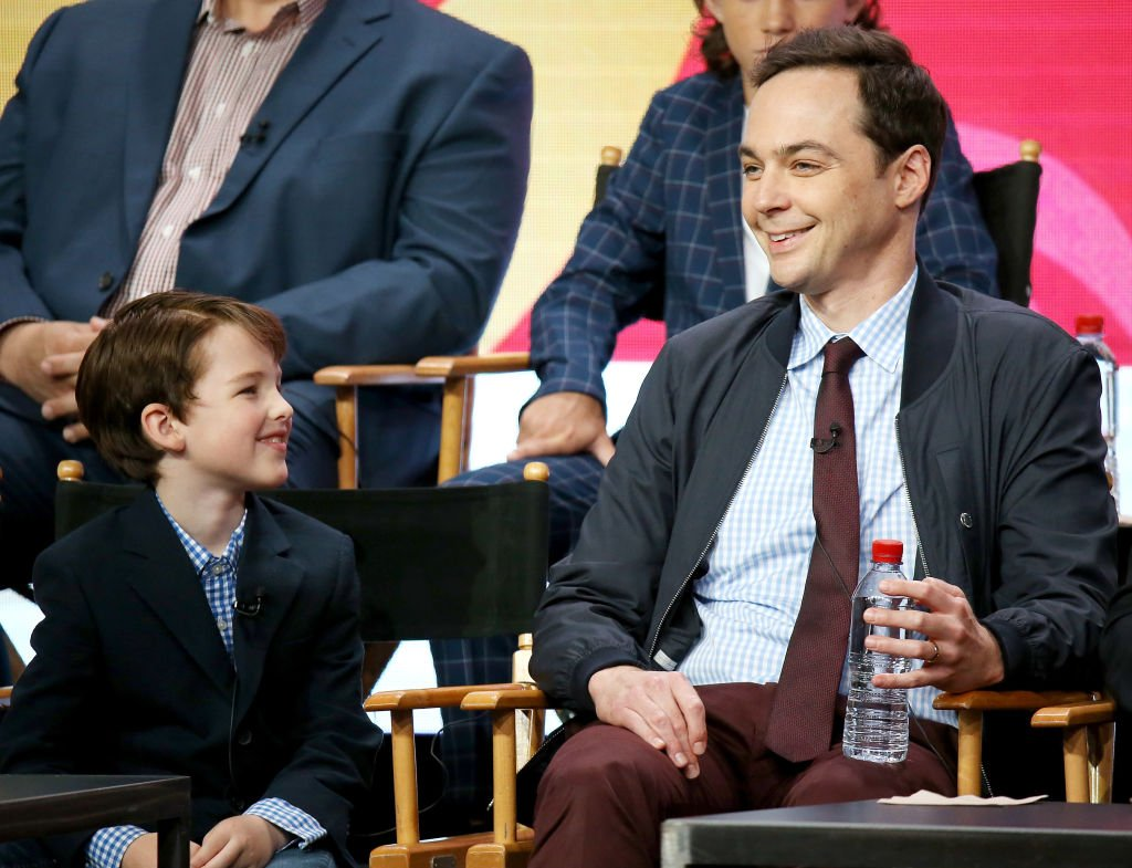 Image Credit: Getty Images / Iain Armitage (L) and Jim Parsons of 'Young Sheldon' speak onstage during the 2017 Summer TCA Tour - CBS Panels held at Various Locations on August 1, 2017 in Los Angeles.