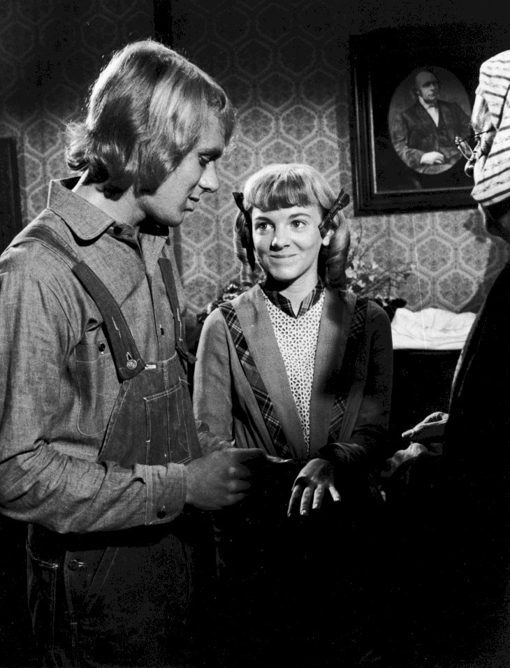 Image Credit: Getty Images/NBC Television |Alison Arngrim and actor Bob Marsic (left) are married by an unidentified actor in the elopement scene from the show.