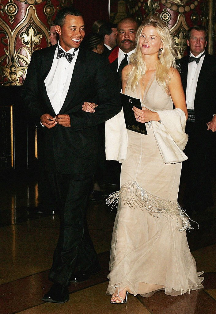 Image Credits: Getty Images / Andrew Redington | Tiger Woods and Elin Nordegren arrive at the 35th Ryder Cup Matches Gala Dinner at the Fox Theater on September, 15 2004 in Detroit, Michigan.