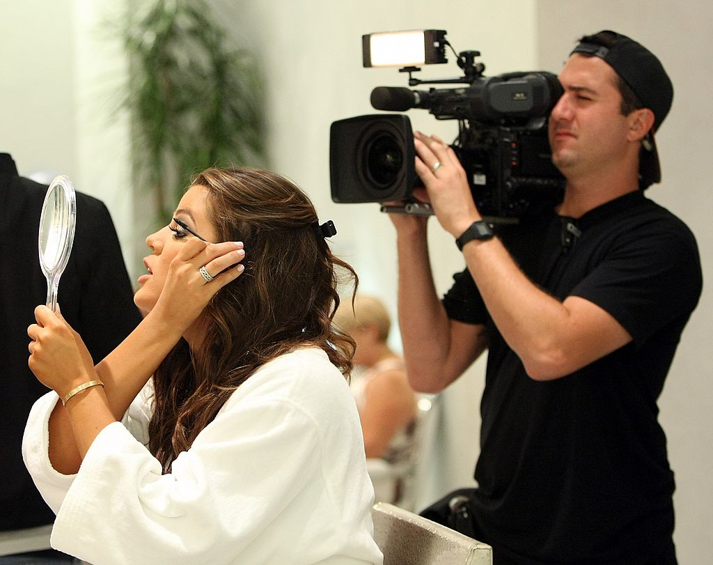 "Image Credit: Getty Images / The Kardashians are filming an episode of their show, ""Keeping Up With the Kardashians"" at Caesars."