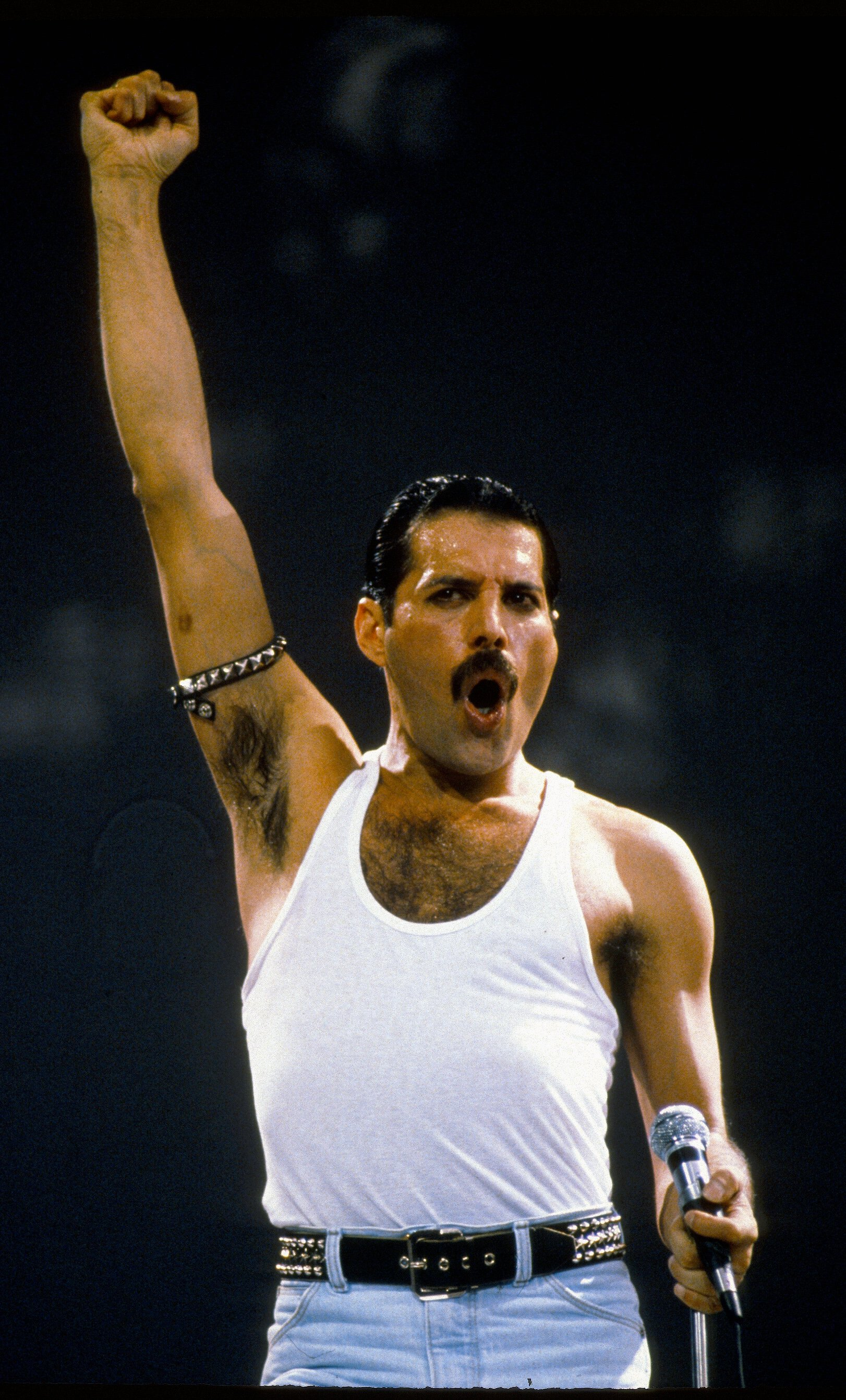 Image Credit: Getty Images/Anwar Hussein   Queen at Live Aid 1985