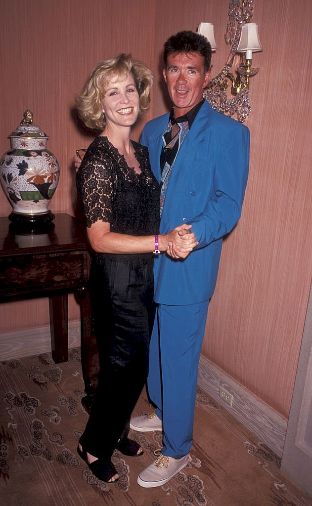 "Image Credits: Getty Images / Ron Galella / Ron Galella Collection | Actor Alan Thicke and actress Joanna Kerns attending ""Mauna Lani Celebrity Sports Invitational"" on May 13, 1992 at the Ritz Carlton Hotel in Mauna Lani, Hawaii."
