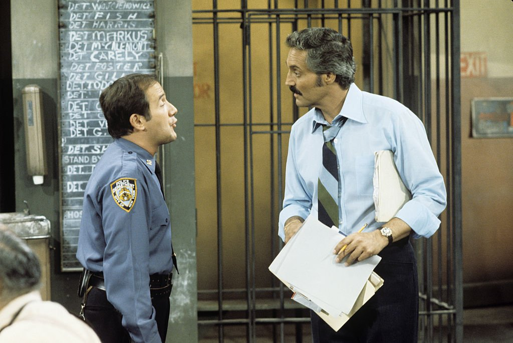 Image Credit: Getty Images / Ron Carey, Hal Linden on set for Barney Miller.