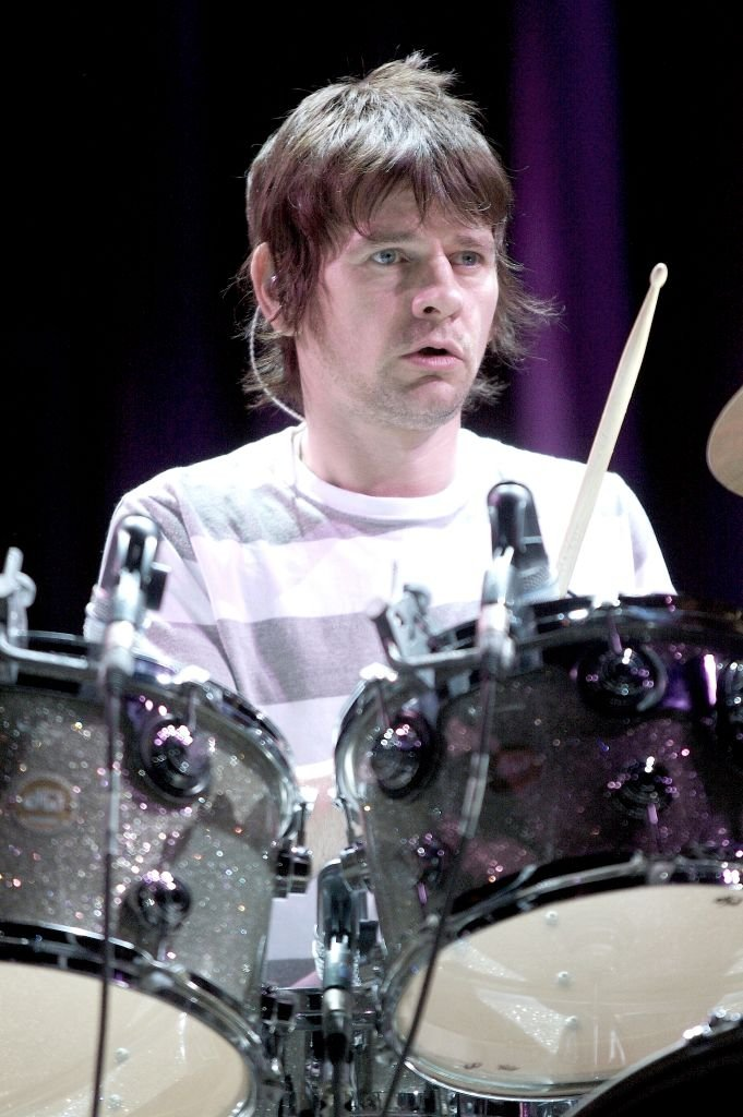 "Image Credits: Getty Images / John Atashian | Drummer Zak Starkey is shown performing on stage during a ""live"" concert appearance with The Who on November 28, 2006."