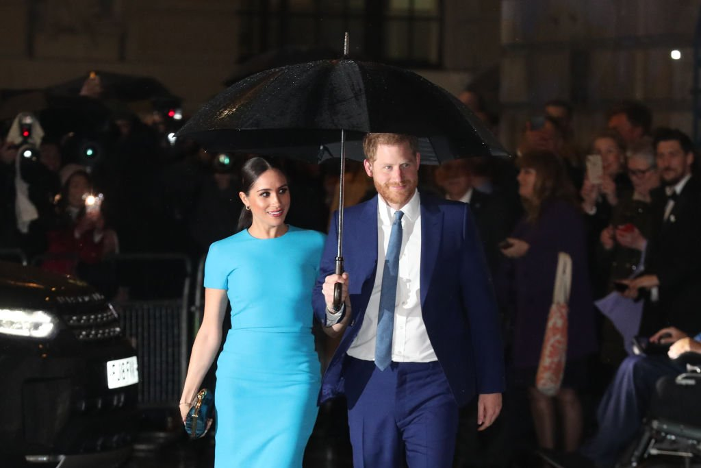 Image Credit: Getty Images / The Duke and Duchess of Sussex arrive at Mansion House in London to attend the Endeavour Fund Awards.