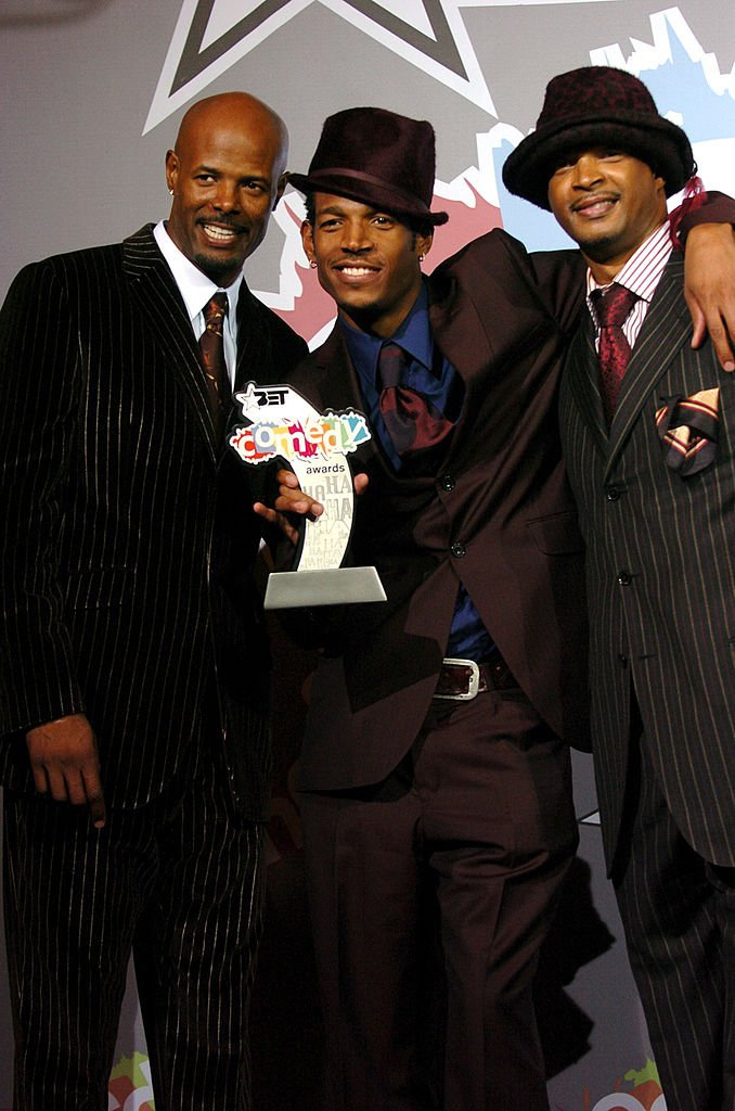 Image Credits: Getty Images / J.Sciulli / WireImage | Keenen Ivory Wayans, Marlon Wayans, and Damon Wayans, winners of the BET Comedy Icon award.