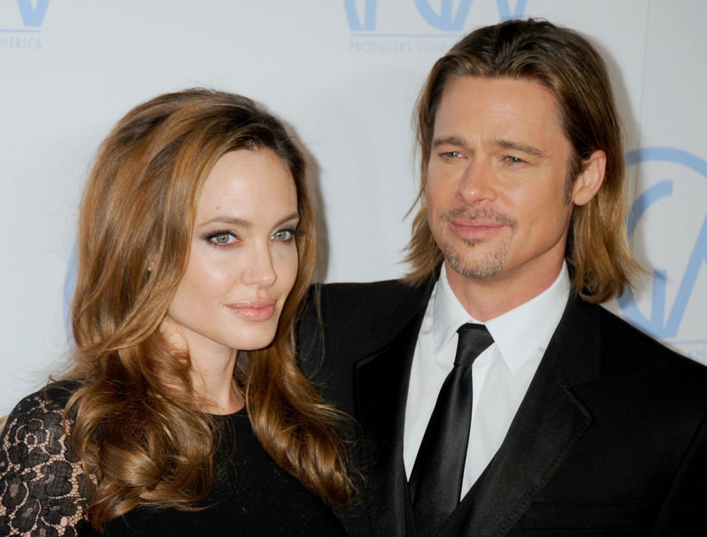 Image Credit: Getty Images/FilmMagic/Gregg DeGuire | Jolie and Pitt at the 23rd Annual Producers Guild Awards