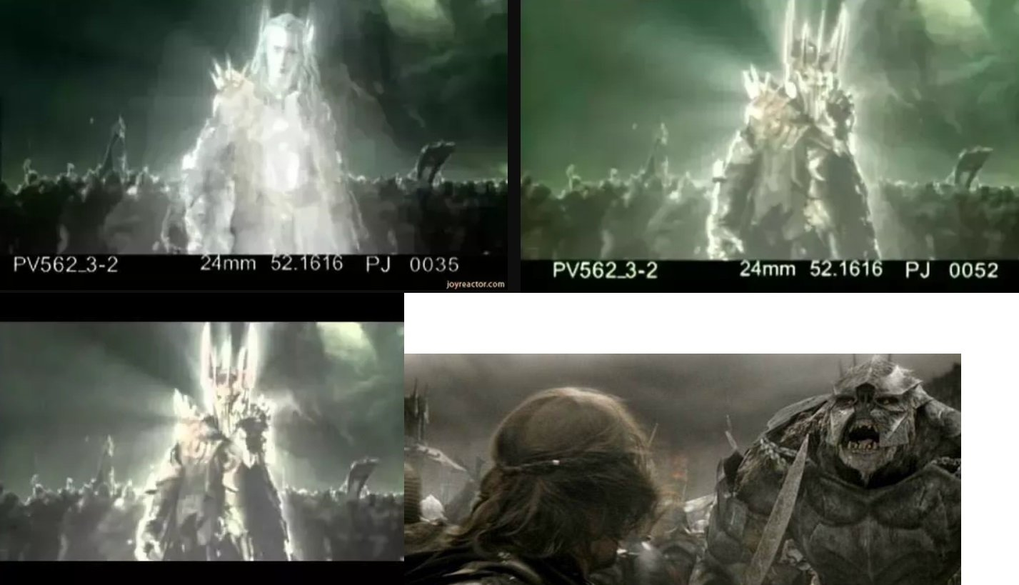 Image credits: Reddit/Suitable Perspective - New Line Cinema/Lords of the Rings Trilogy