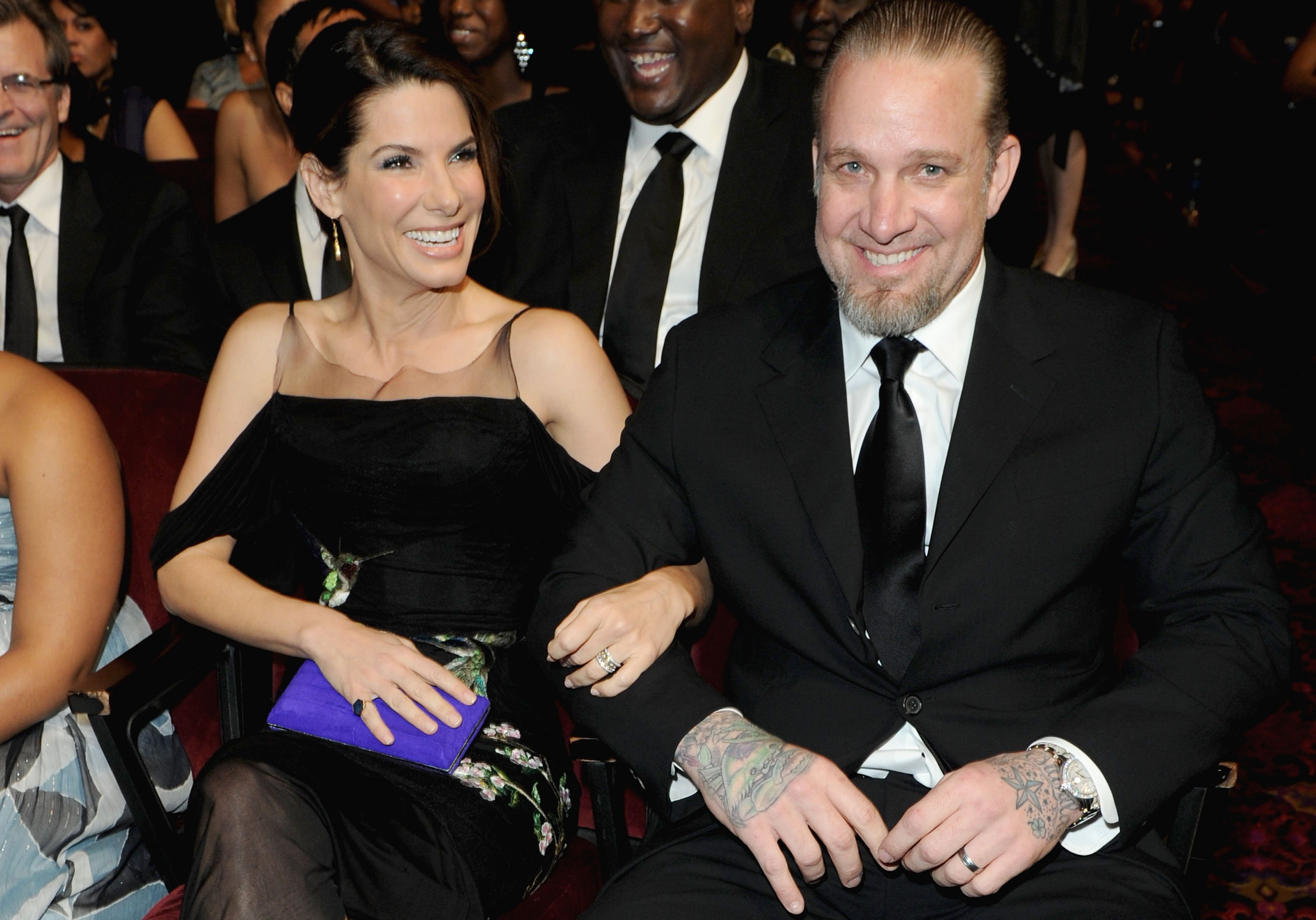 Image Credits: Getty Images / Jason Merritt | Actress Sandra Bullock and husband Jesse James in the audience during the 41st NAACP Image awards held at The Shrine Auditorium on February 26, 2010 in Los Angeles, California.