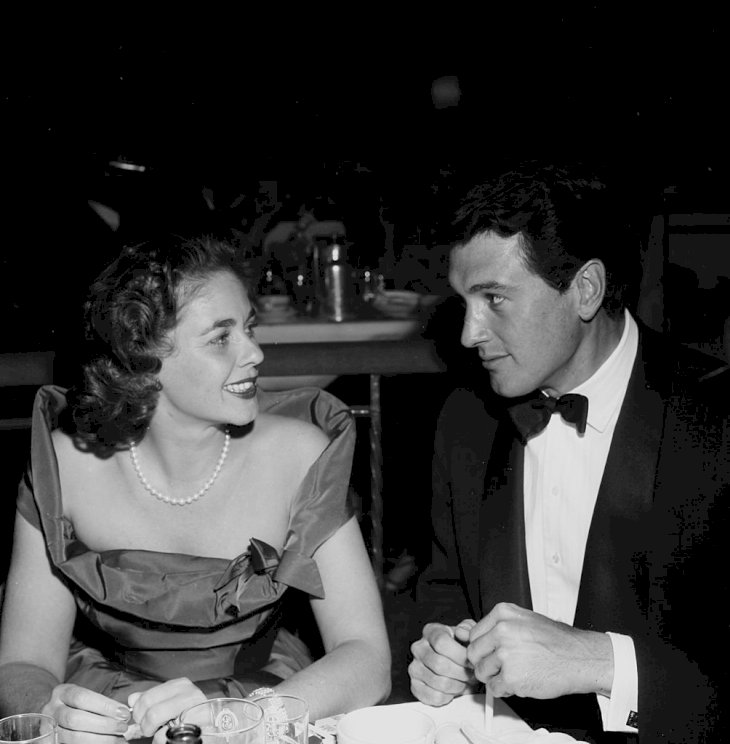 Image Credit: Getty Images/Michael Ochs Archives/Earl Leaf |Rock Hudson and his wife Phyllis Gates attend the Screen Directors Dinner in Los Angeles, California.