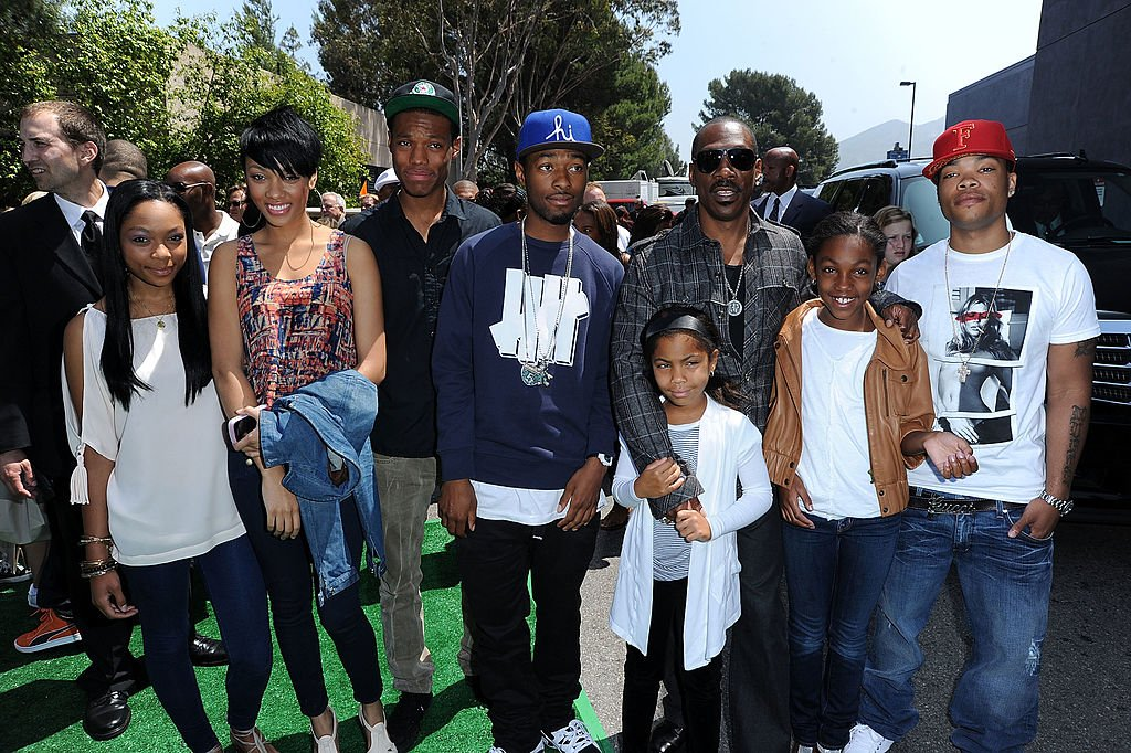 Image Source: Getty Images/Eddie Murphy and family