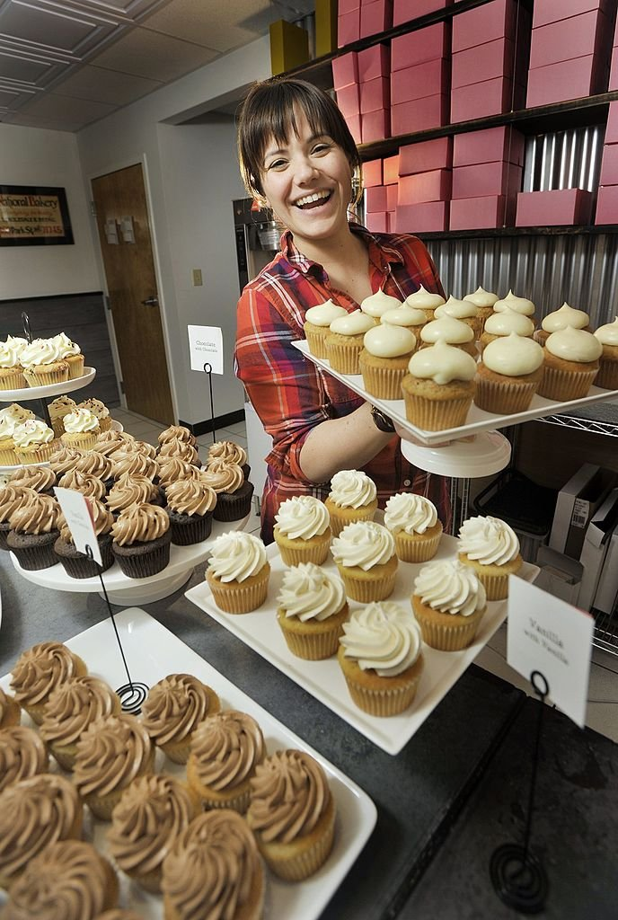 Image Source: Getty Images/Portland Press Herald via Getty Images/John Ewing | Still of Alysia Zoidis, owner of East End Cupcakes, first runner up of Cupcake Wars 2012
