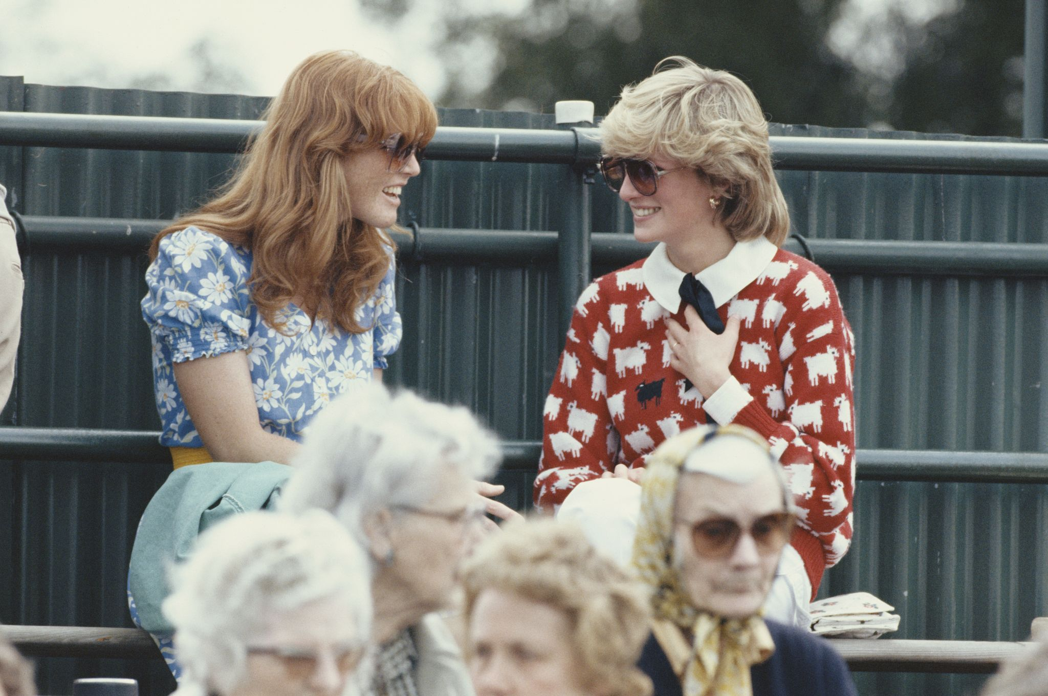 Diana, Princess of Wales with Sarah Ferguson at the Guard's Polo Club, Windsor / Getty Images