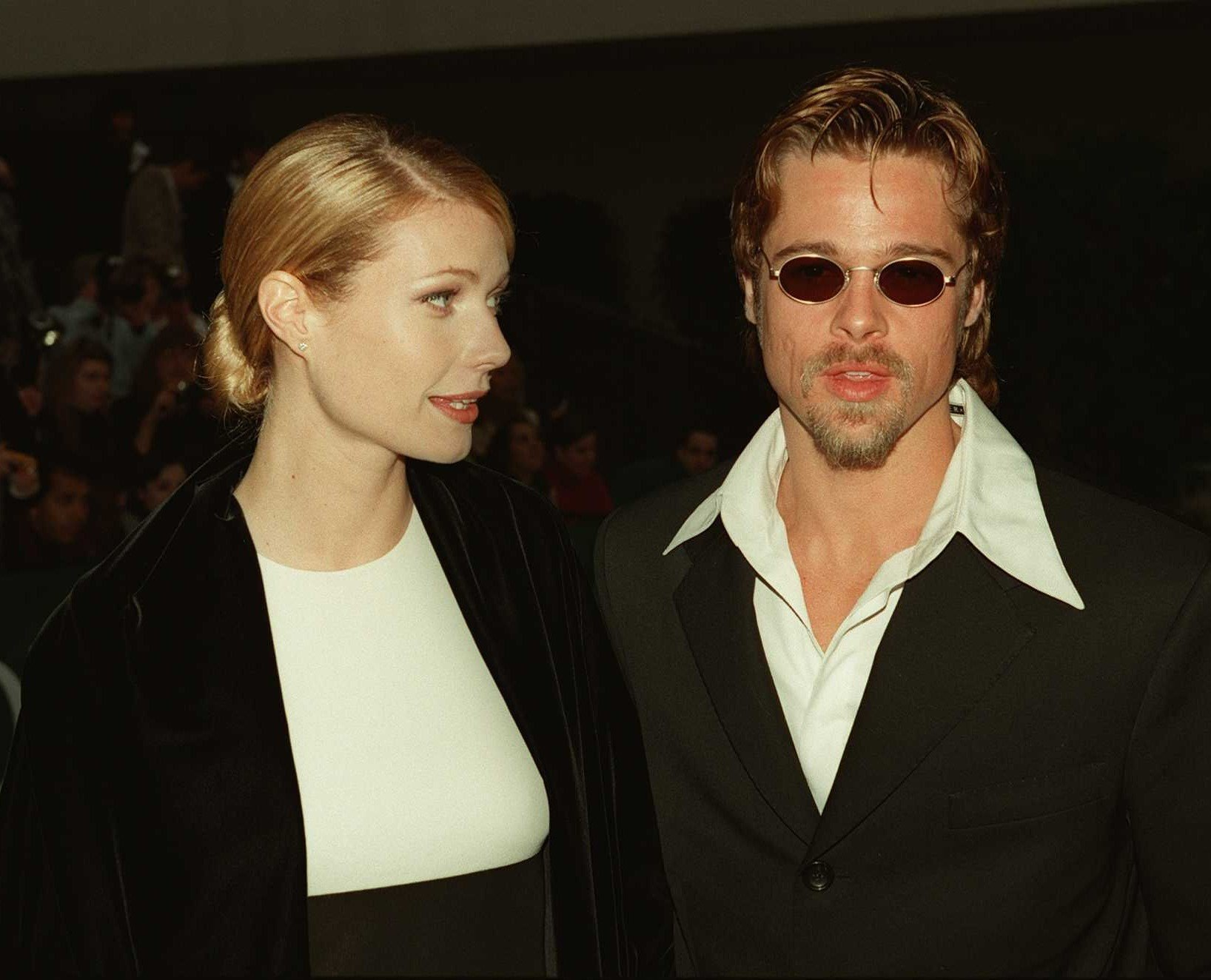 Brad Pitt and Gwyneth Paltrow attend the 1996 Golden Globe Awards / Getty Images