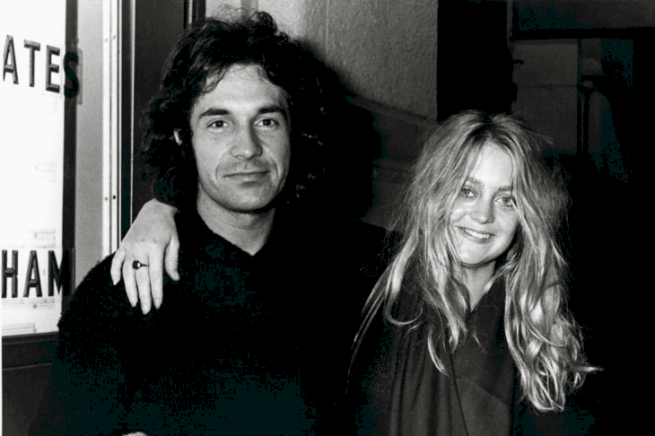 Bill Hudson and Goldie Hawn pictured on November 20, 1976.   Photo: Getty Images.