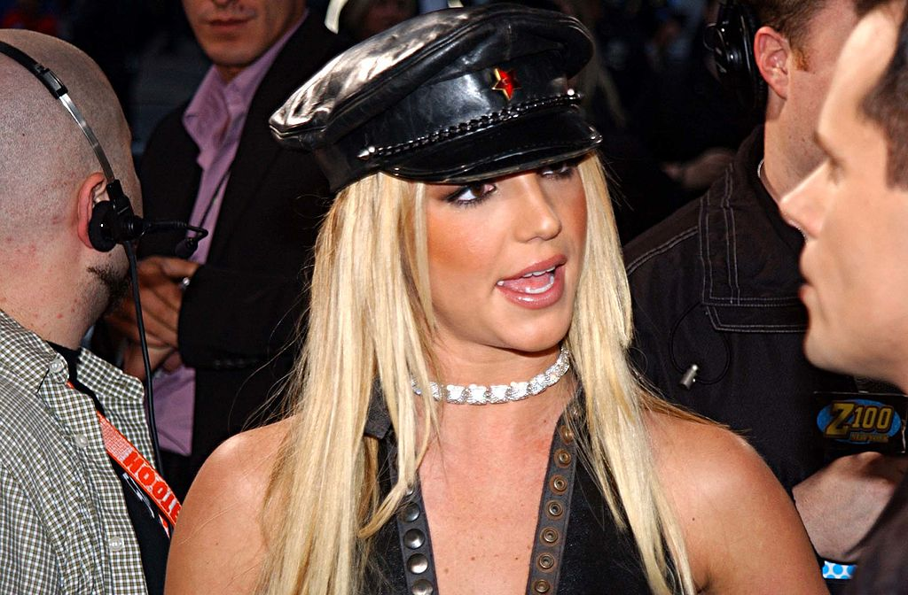 Image Credit: Getty Images / Britney Spears during 2002 MTV Video Music Awards - Arrivals at Radio City Music Hall in New York City.