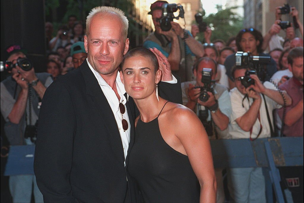 Image Credit: Getty Images / Actors Bruce Willis and Demi Moore photographed for a NEW YORK FILM PREMIERE.