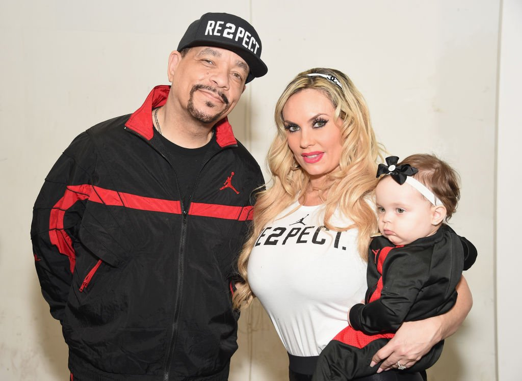 Image Credit: Getty Images / Ice-T, Coco Austin and Chanel Nicole Marrow pose backstage at the Rookie USA fashion show during New York Fashion Week on February 15, 2017 in New York City.