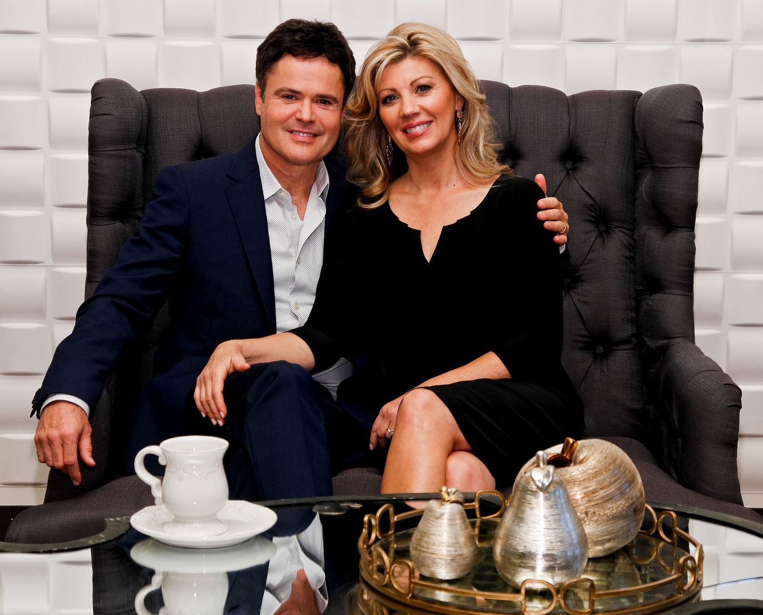 Donny and Debbie Osmond at the launch of Donny Osmond Home,2013 /Photo:Getty Images