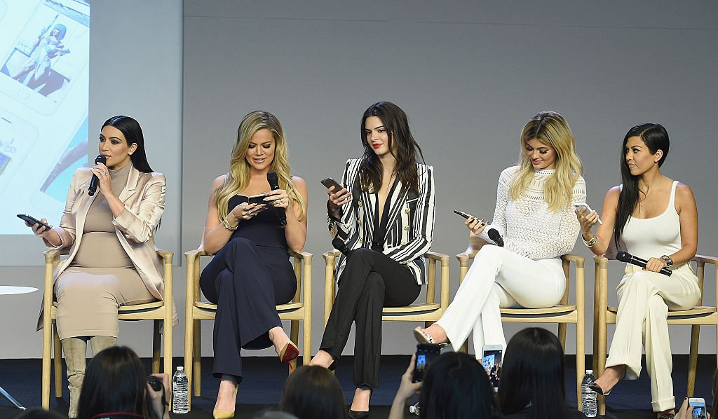 Image Credit: Getty Images / Kim Kardashian, Khloe Kardashian, Kendall Jenner, Kylie Jenner and Kourtney Kardashian attend the Apple Store Soho on September 14, 2015 in New York City.
