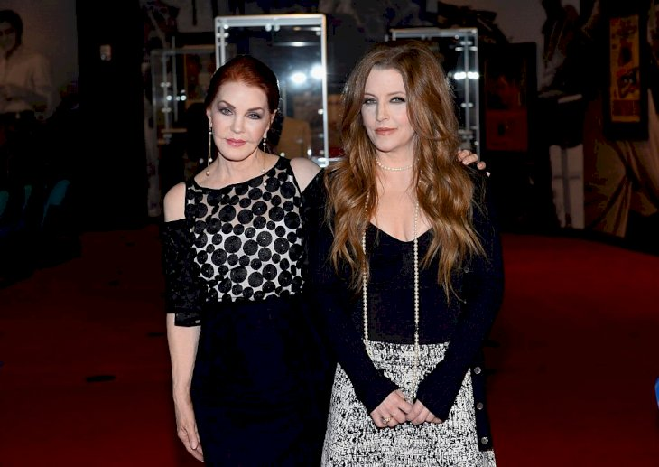 Image Credit: Getty Images / Lisa Marie Presley and her mother arrive at an event.
