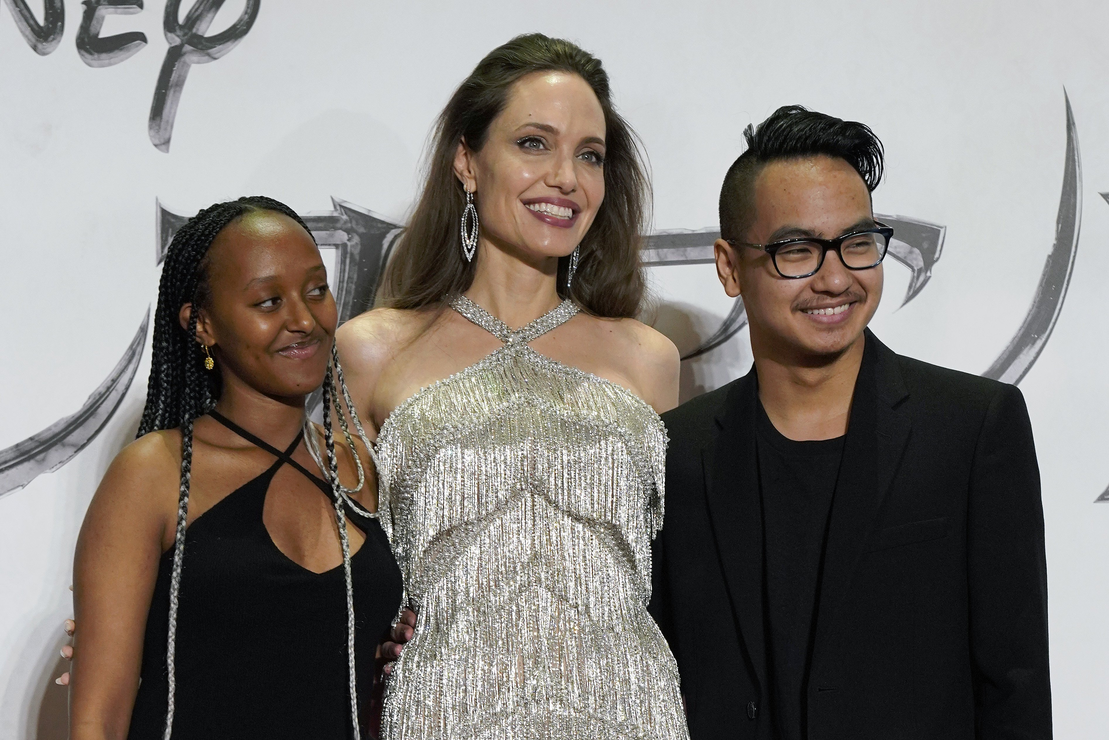 Image Credit: Getty Images/Wireimage | Jolie with Zahra and Maddox at the Maleficent Mistress of Evil premier in South Korea
