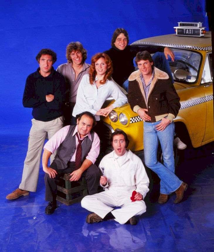 Image Credits: Getty Images / The cast of the TV series 'Taxi (clockwise from top: Tony Danza, Randall Carver, Andy Kaufman, Danny DeVito, Judd Hirsch, Jeff Conaway and Marilu Henner