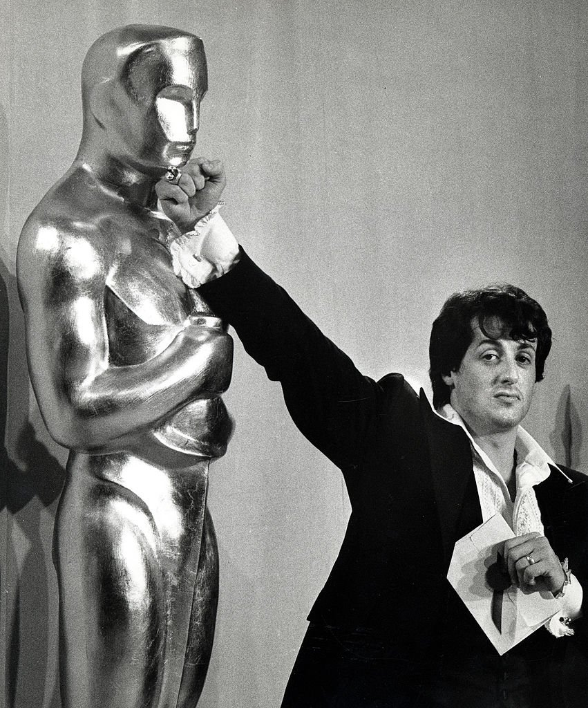 Image Source: Getty Images/Ron Galella Collection via Getty Images/Ron Galella | Stallone at the 49th Academy Awards