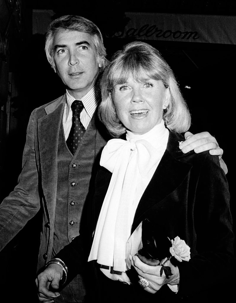 Image Credits: Getty Images / Tom Wargacki / WireImage | Doris Day and husband Barry Comden at the Pierre Hotel.
