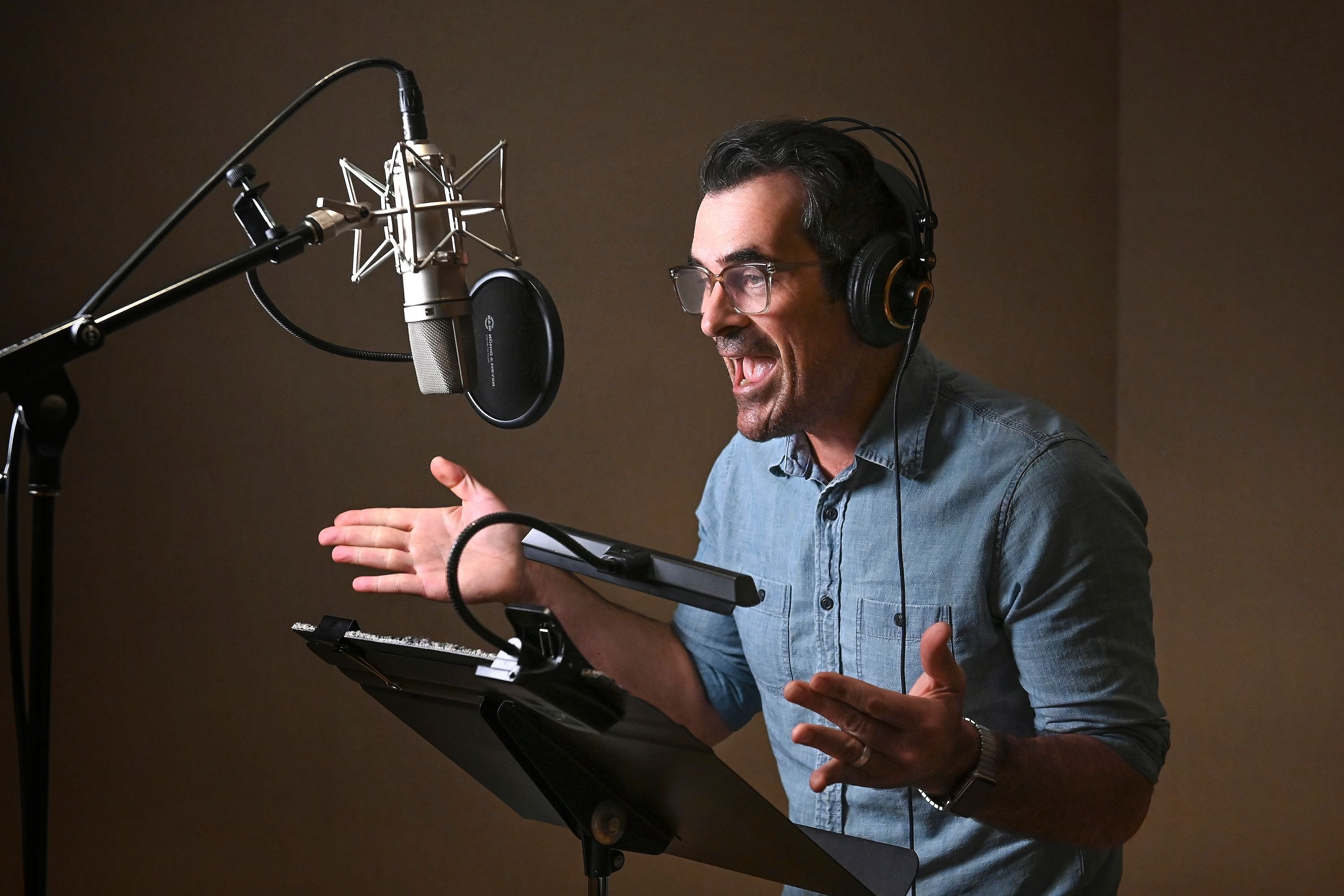 Ty Burrell records the voice of Jack for the new animated family comedy DUNCANVILLE / Getty Images