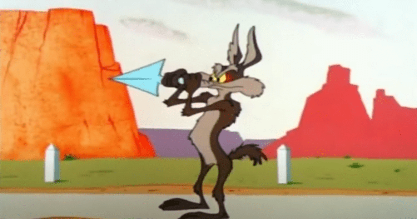 "Image Credits: YouTube /  NERD TV | Wile E Coyote appeared on ""Night Court"""