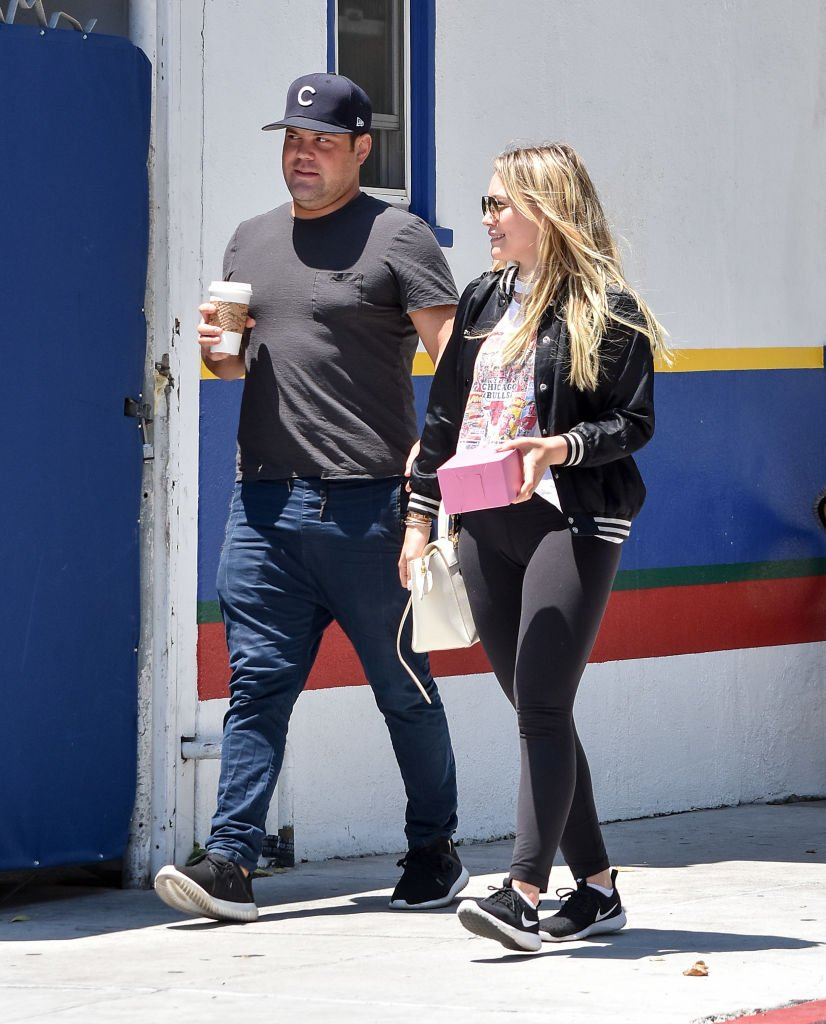 Image Source: Getty Images/BG015/Bauer-Griffin/Mike Comrie and Hilary Duff are seen on July 03, 2017 in Los Angeles, California