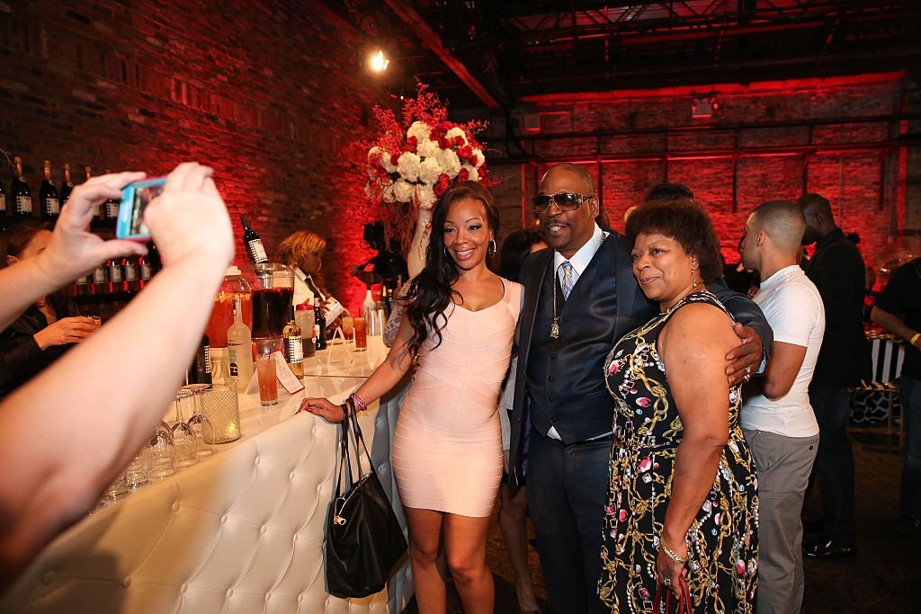 Image Credit: Getty Images / Letesha Marrow (L) poses with guests at David Tutera's CELEBrations: Ice T & Coco's Pre-Birthday Party For Baby Chanel at Cedar Lake Events on October 22, 2015 in New York City.