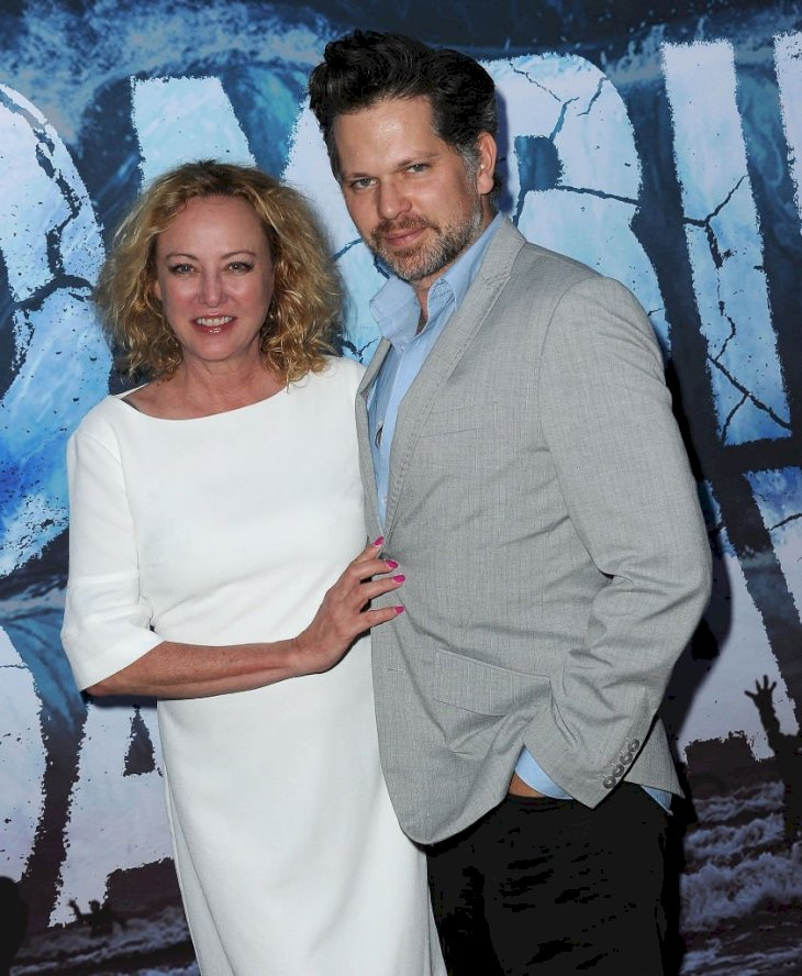 "Image Credit: Getty Images/Albert L. Ortega |Virginia Madsen and Nick Holmes arrive for the Premiere Of SyFy's ""Zombie Tidal Wave"""