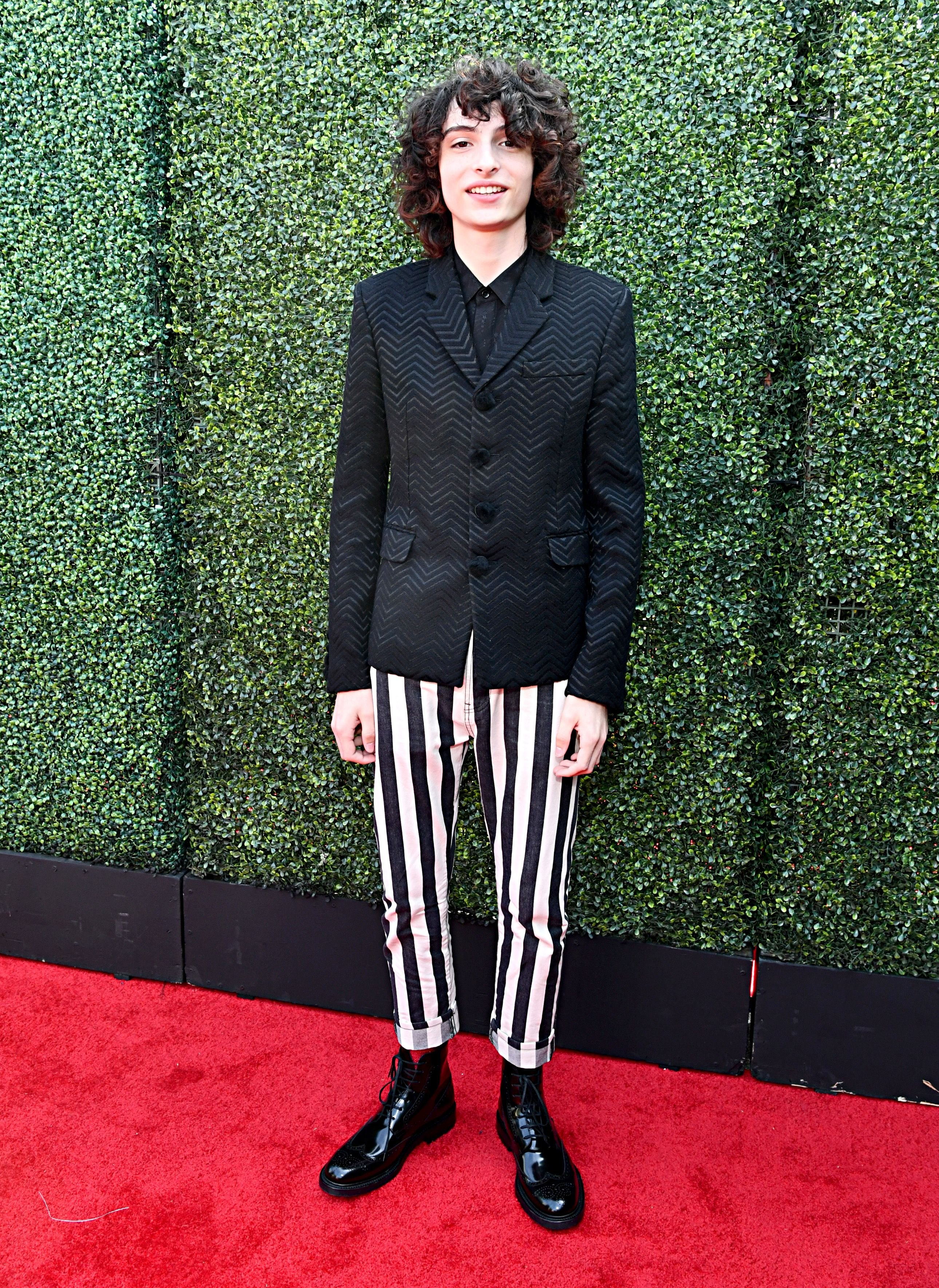 Finn Wolfhard at the 2019 MTV Movie And TV Awards - Red Carpet/Photo:Getty Images