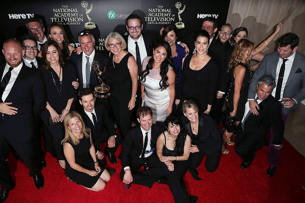 Image Source: Getty Images/David Livingston| The Ellen DeGeneres Show producers/staff attend the press room at the 41st Annual Daytime Emmy Awards at The Beverly Hilton Hotel on June 22, 2014 in Beverly Hills, California