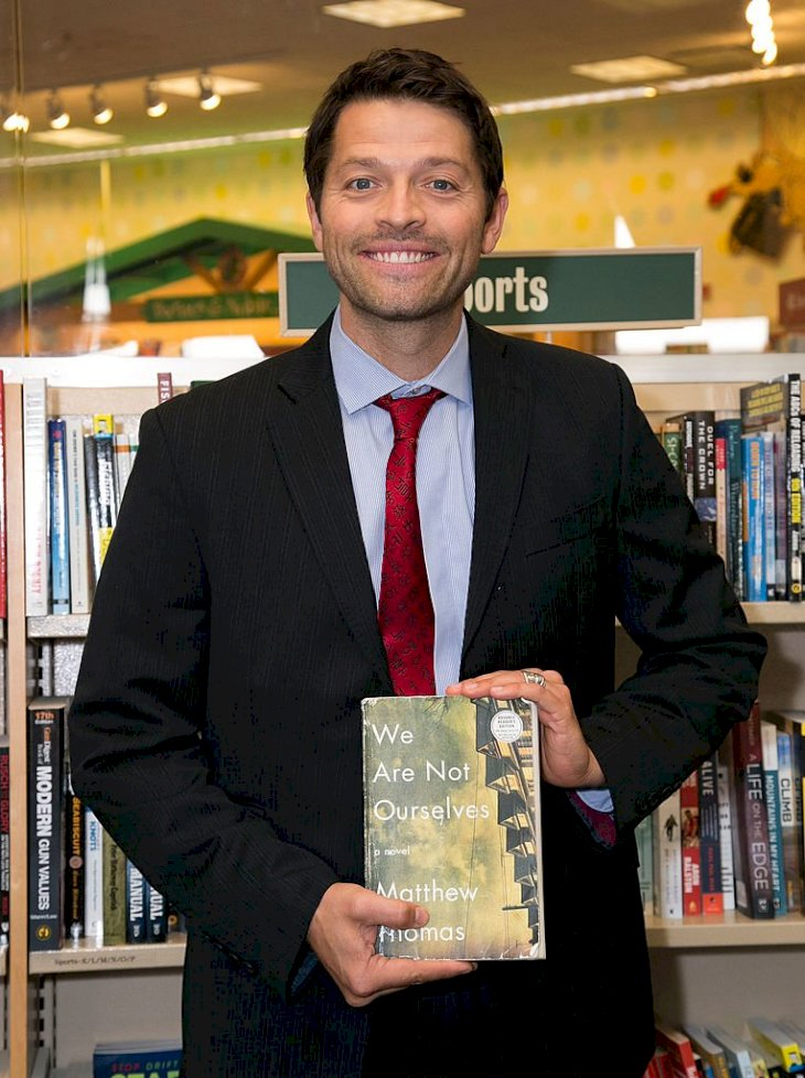 "Image Credits: Getty Images / Vincent Sandoval / FilmMagic | Actor Misha Collins attends the Matthew Thomas and Misha Collins book signing for ""We Are Not Ourselves"" at Barnes & Noble bookstore at The Grove on September 28, 2014 in Los Angeles, California."