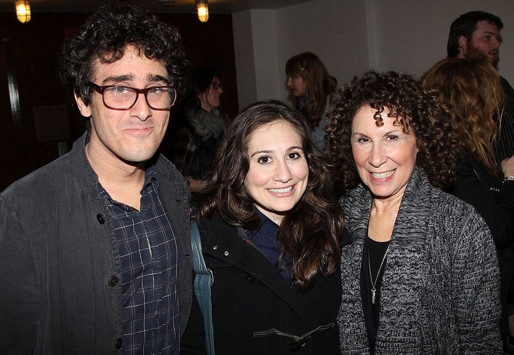 "Image Source: Getty Images/Bruce Glikas/acob DeVito, Lucy DeVito and Rhea Pearlman pose at The New Group's ""Women Behind Bars"" Reading at Acorn Theatre on May 7, 2012 in New York City"