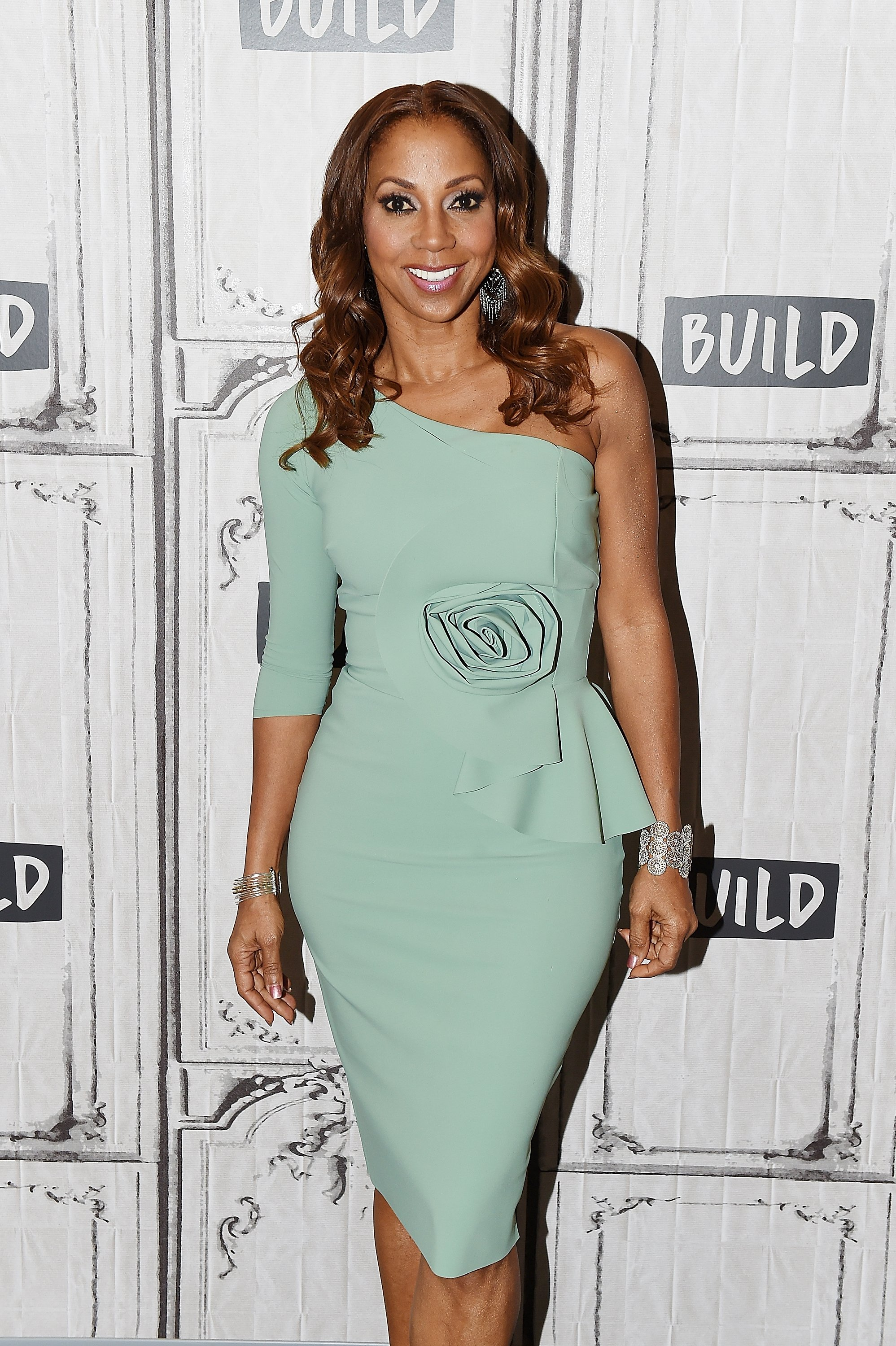 Image Credits: Getty Images / Nicholas Hunt | Holly Robinson Peete attends Build Series to discuss 'Meet the Peetes' at Build Studio on February 21, 2018 in New York City.