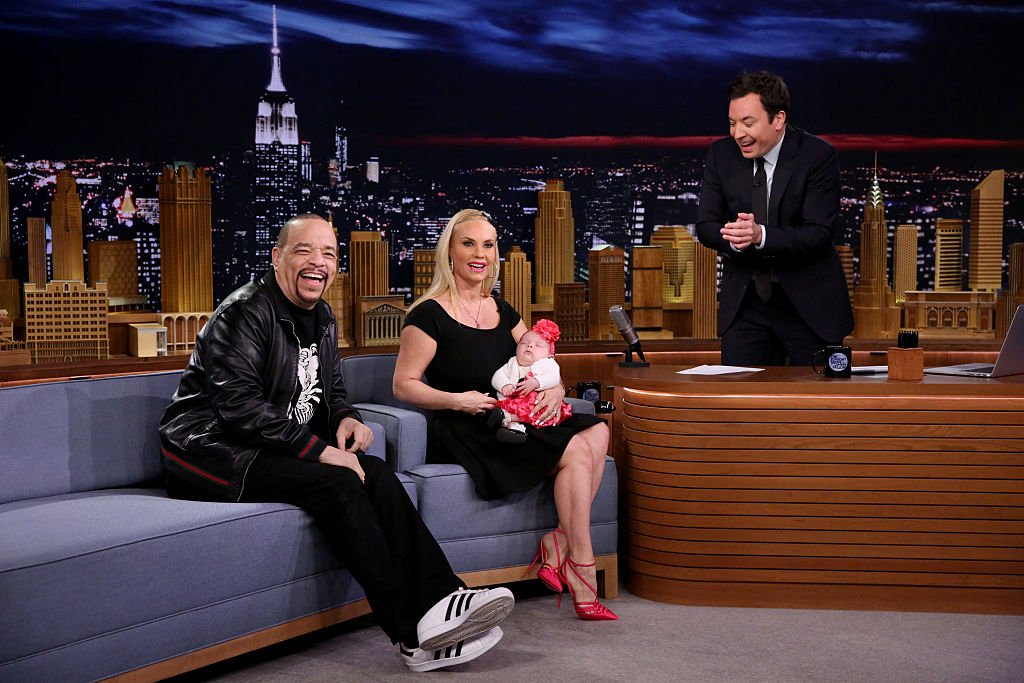 Image Credit: Getty Images / Ice-T and Coco Austin show off their daughter Chanel Nicole Marrow during an interview with host Jimmy Fallon on March 23, 2016.