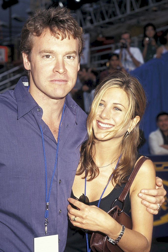 Image Credit: Getty Images/Ron Galella Collection via Getty Images/Ron Galella, Ltd. | Tate Donovan and Jennifer Aniston at the New Amsterdam Theater in New York City